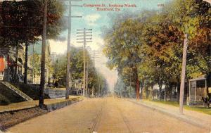 Bradford Pennsylvania Congress St Scene Residential Antique Postcard K20182