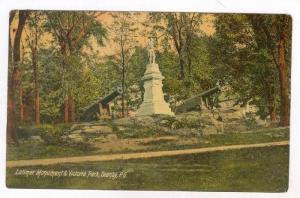 Latimer Monument & Victoria Park, Granby, P.Q., Canada, PU-1911