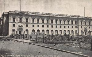 Post Office from 7th Street San Francisco, CA, After Fire, April 18,1906, Unused