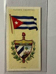 CIGARETTE CARD - PLAYERS NATIONAL FLAGS #11 CUBA       (UU167)