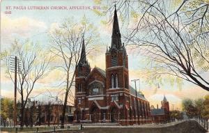 Appleton Wisconsin~St Pauls Lutheran Church~1913 To Ruth Maylahn