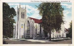 Exterior,  First Christian Church,  Sixth and Cook Streets,  Springfield,  Il...