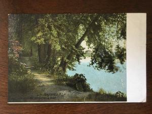1908 Lovers Lane Along the Sasquehanna River, Binghamton, New York NY D12
