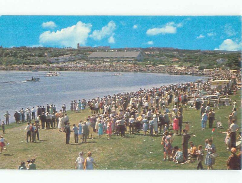 Pre-1980 BIG CROWD ON SHORELINE St. John'S Newfoundland NL AE3751