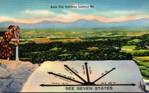Tennessee Lookout Mountain Rock City Gardens See Seven States