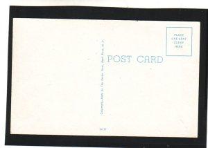P1597 vintage unused postcard people fishing florida causeway