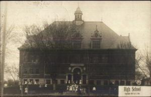 Blue Earth MN High School c1910 Real Photo Postcard