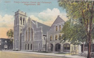 HAGERSTOWN, Maryland, PU-1914 ; Trinity Lutheran Church & Parsonage