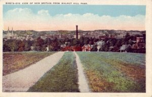 BIRD'S-EYE VIEW OF NEW BRITAIN, CT FROM WALNUT HILL PARK