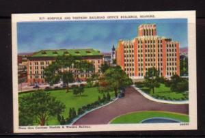 Virginia postcard Norfolk & Western RR Building Roanoke