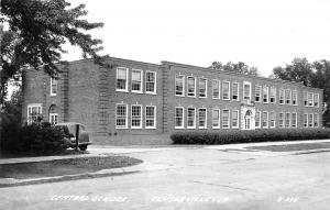 Centerville Iowa~Central School~Bought From Lucile Harvey~1930s Car~1940s RPPC