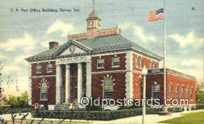 Dover, DE USA Post Office Unused writing on front