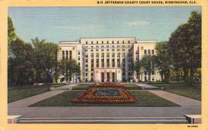 Jefferson County Court House, Birmingham, Alabama, Early Postcard, Unused