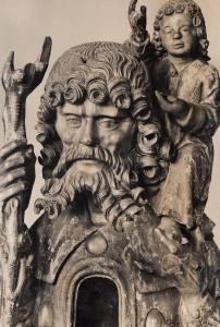 Munchen Bayerisches Nationalmuseum Christophorus 1500s Sculpture Postcard