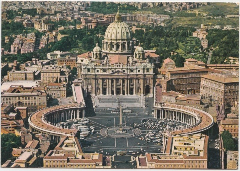 ROMA, Piazza S. Pietro, St. Peter's Square, 1981 used Postcard
