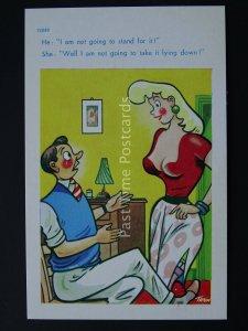 Romance I'M NOT TAKING IT LYING DOWN......Comic Postcard by Brook Co Ltd
