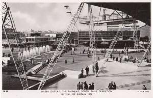Festival Of Britain The Water Display Fairway London Southbank RPC Postcard