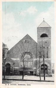 E27/ Dennison Ohio Postcard 1921 M.E. Church Building