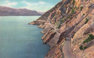 Yellowstone Nat'l Park, WY, Lake Shore Drive, Shoshone Lake, 1936 Postcard g8231