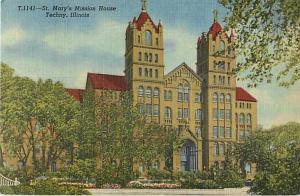 Saint Mary's Mission House Techny Illinois IL Linen