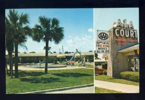 St Augustine, Florida/FL Postcard, A-1-A Court/Motel, Pool & Classic Sign