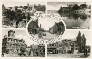 RPPC Greetings from Linlithgow, West Lothian, Scotland, United Kingdom
