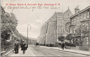 All Hallows Church & Savernake Road Hampstead NW London UK Martin Postcard F28