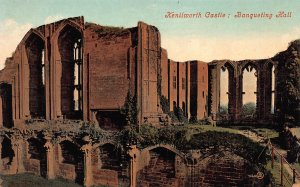Kenilworth Castle, Banquet Hall, England, Early Valentine's Postcard, Unused