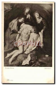 Old Postcard Van Dyck Munchen