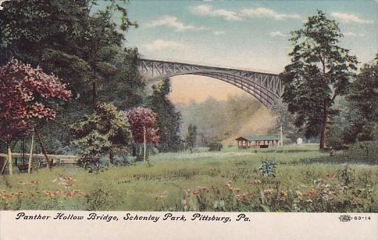 Pennslyvania Pittsburg Panther Hollow Bridge Schenley Park