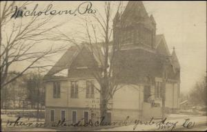 Nicholson PA Church c1905 Real Photo Postcard