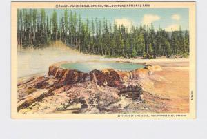 VINTAGE POSTCARD NATIONAL STATE PARK YELLOWSTONE PUNCH BOWL SPRING #5