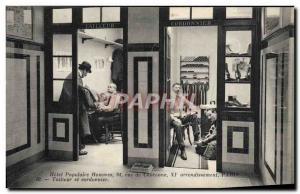 Old Postcard popular men Hotel Rue de Charonne Paris Carver and shoemaker TOP