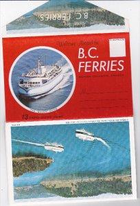 Folder Postcard : B.C. Ferries , Canada , 50-60s
