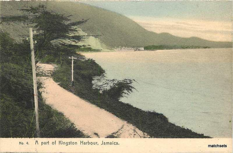 Circa 1910 HAND COLORED A Part of Kingston Harbour JAMAICA postcard 17379