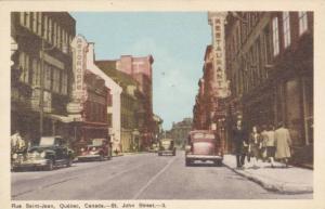 Rue Saint-Jean , Quebec , Canada , 1930s