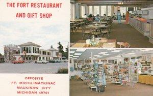 MACKINAW CITY , Michigan , 50-60s ; The Fort Restaurant & Gift Shop