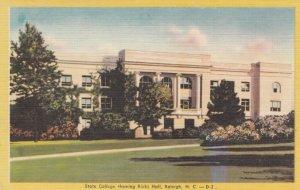 RALEIGH , North Carolina, 40-60s ; State College showing Ricks Hall