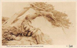 G21/ Native American Indian RPPC Postcard Glacier National Park Monarch 6