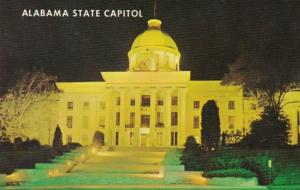 Alabama Montgomery State Capitol Building At Night