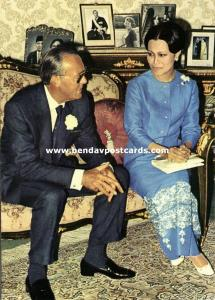 siam thailand, Queen Sirikit and Prince Bernhard of the Netherlands (1960)