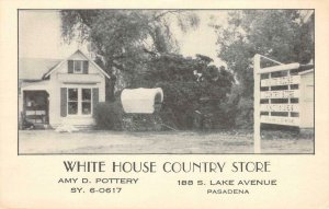 WHITE HOUSE COUNTRY STORE Pasadena, CA Covered Wagon c1930s Vintage Postcard