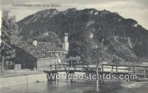 Oberammergau Germany, Deutschland Postcard Partie an der Ammer  Partie an der...
