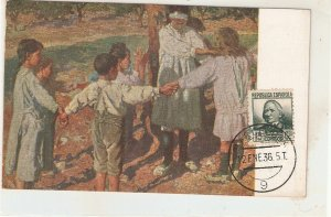 Pla y Rubio. Children playing blind man's gamel Nice Spanish vintage postcard