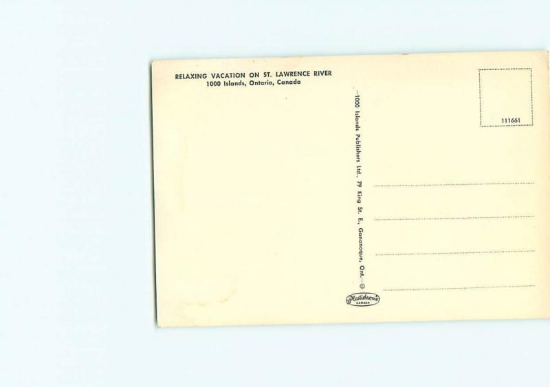 Vintage Postcard St Lawrence River 1000 Islands Ontario Canada   # 3207