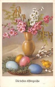 BG4597 chick egg flower ostern easter  germany greetings
