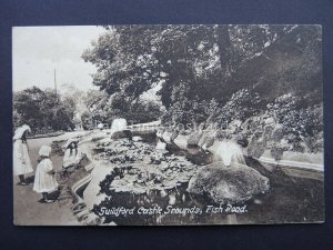 Surrey GUILDFORD Castle Grounds FISH POND - Old Postcard by Frith 54155