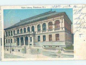 Pre-1907 LIBRARY SCENE Providence Rhode Island RI AF1883