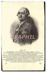 Old Postcard Louis XVI at Versailles Do Er Small Son Of Louis XV