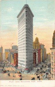Flat Iron Building, Manhattan, New York City, N.Y., Early Postcard, Unused